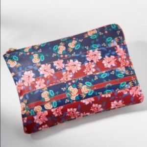 NWT Anthropologie Painted Floral Clutch